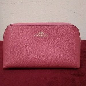 🆕 Coach Cross-grained Leather Cosmetic Case